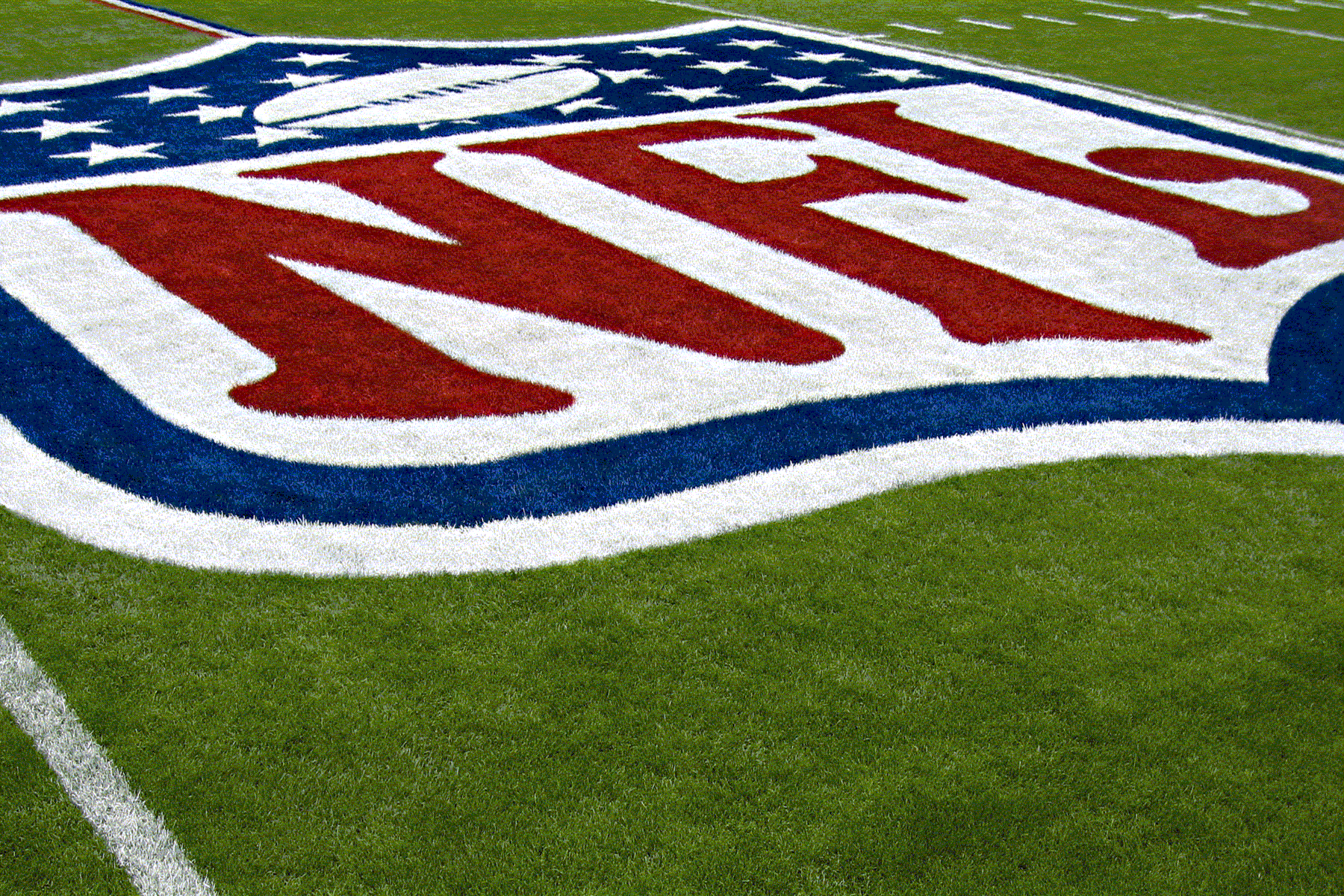 Nfl Drawn Logo on a Field