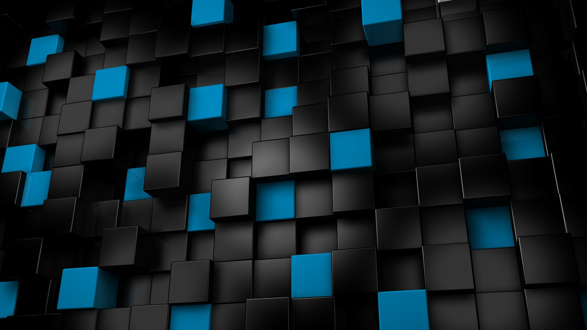 Blue and Black Cubic Backgrounds 563.03 Kb