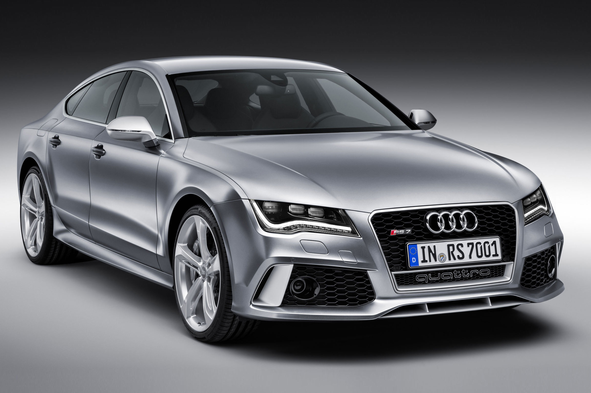 Silver Audi Front Look 413.42 Kb