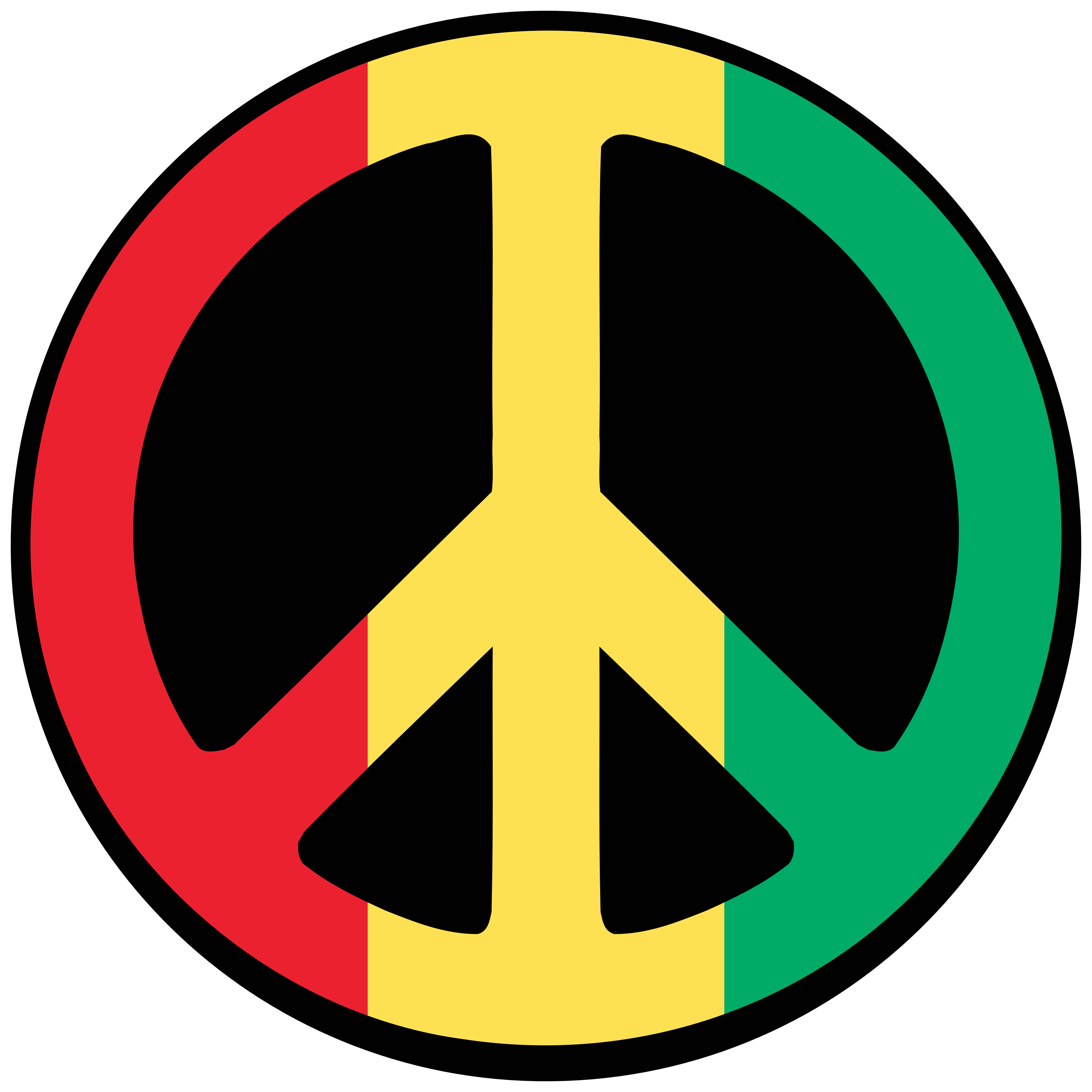 Tricolor Peace Sign
