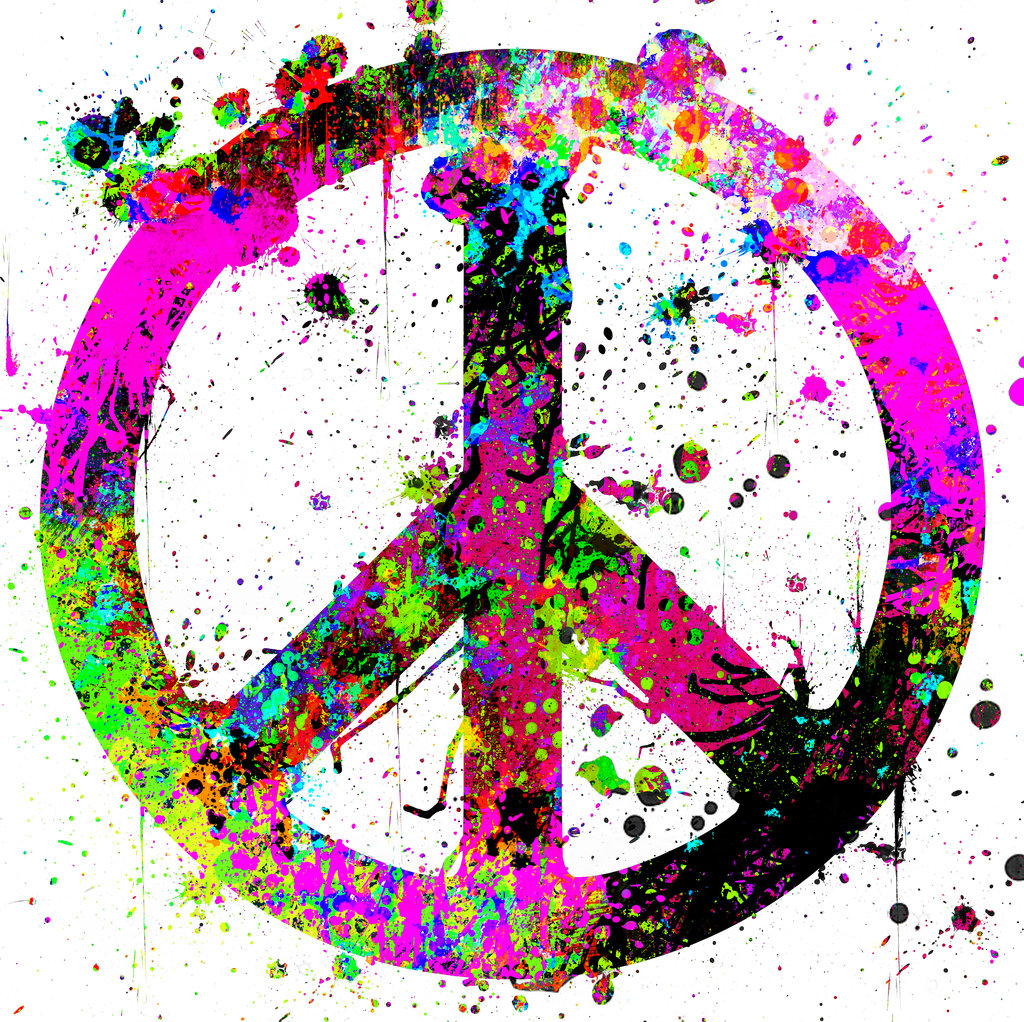 Peace Sign in Bright Colors