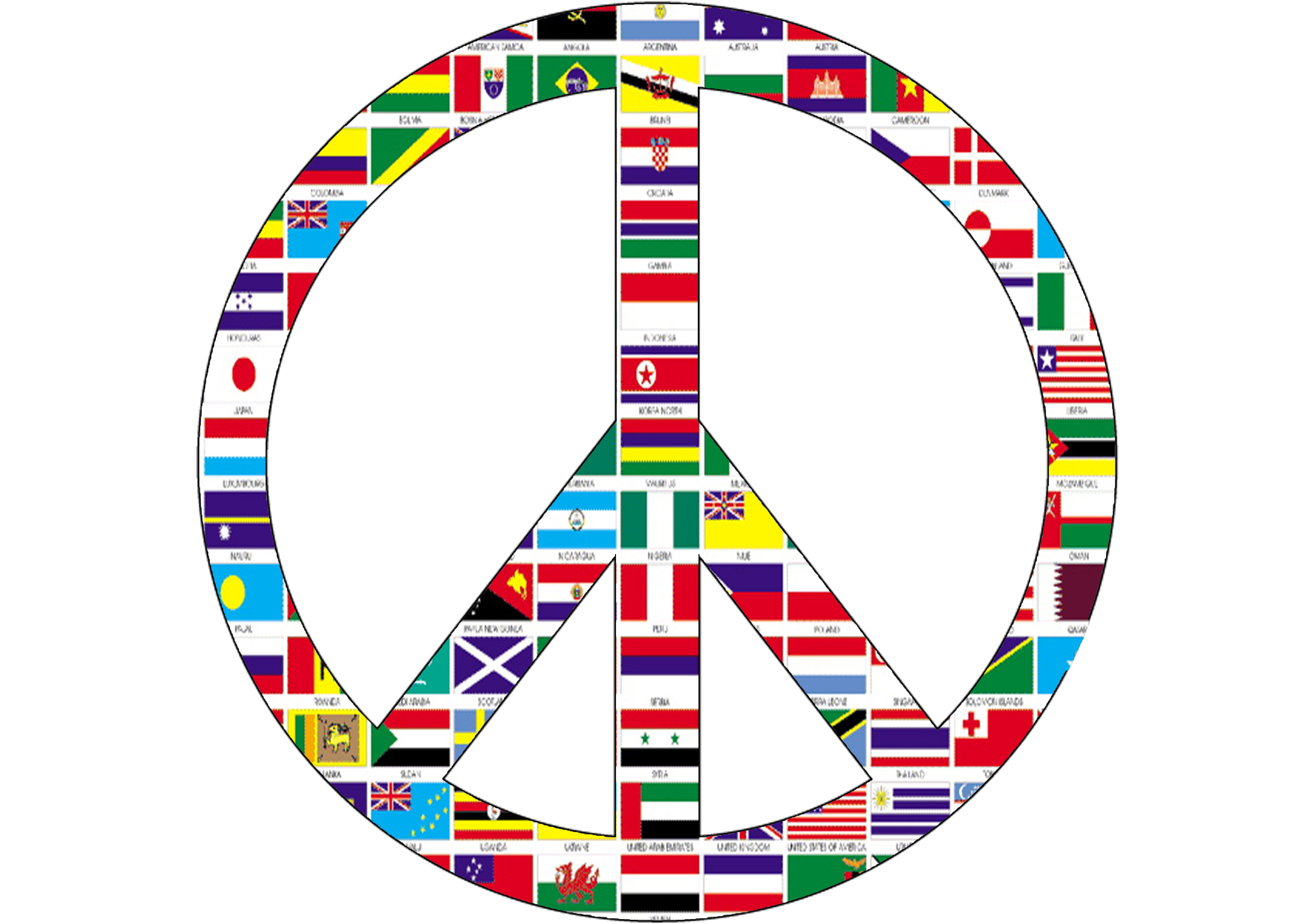 Peace Sign With Flags