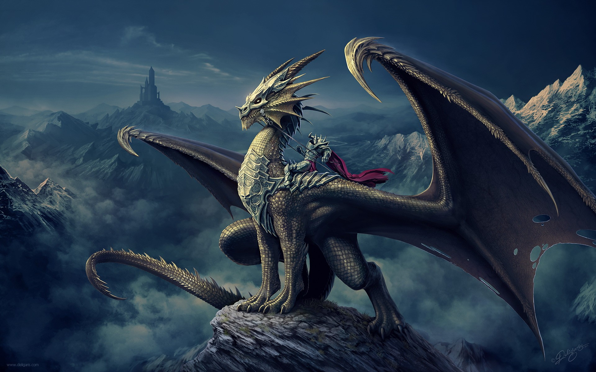 Warriror on a Dragon in a Dream World 713.66 Kb