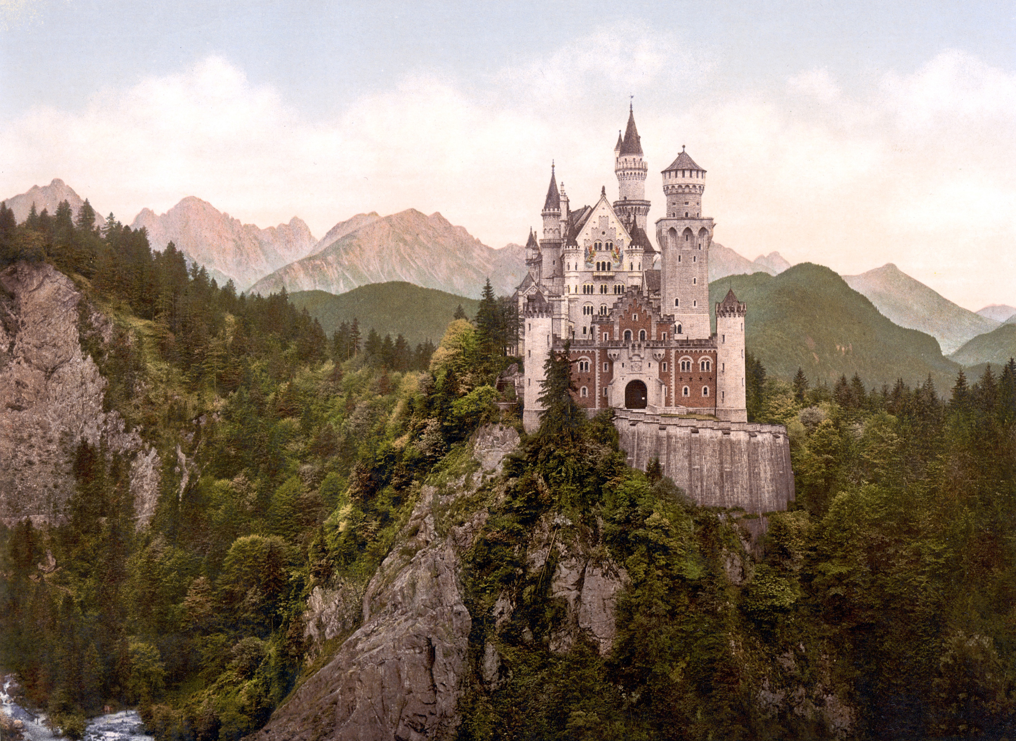 Castle on a Rock in the Woods 1155.07 Kb