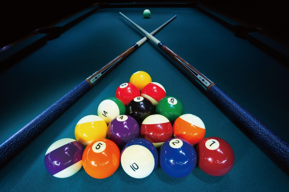 Billiards Balls on a Table