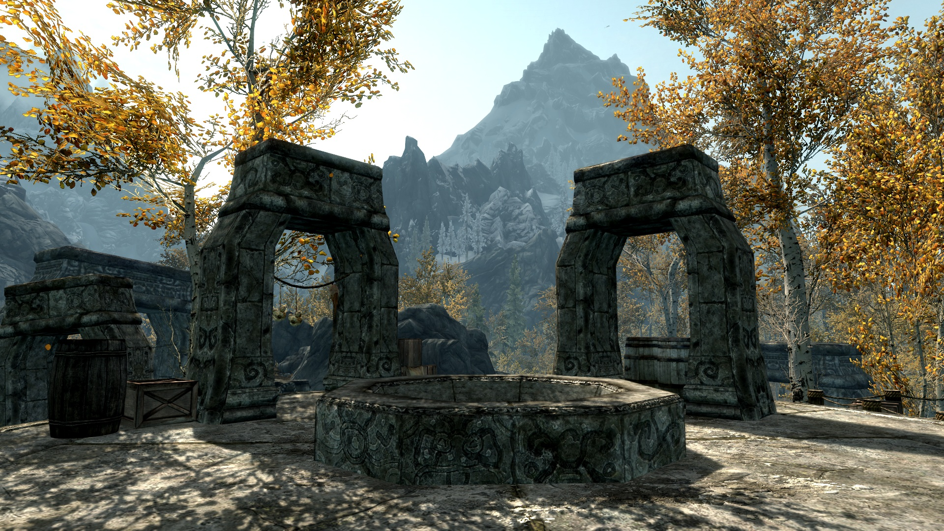 Ruins of a Temple in the Game