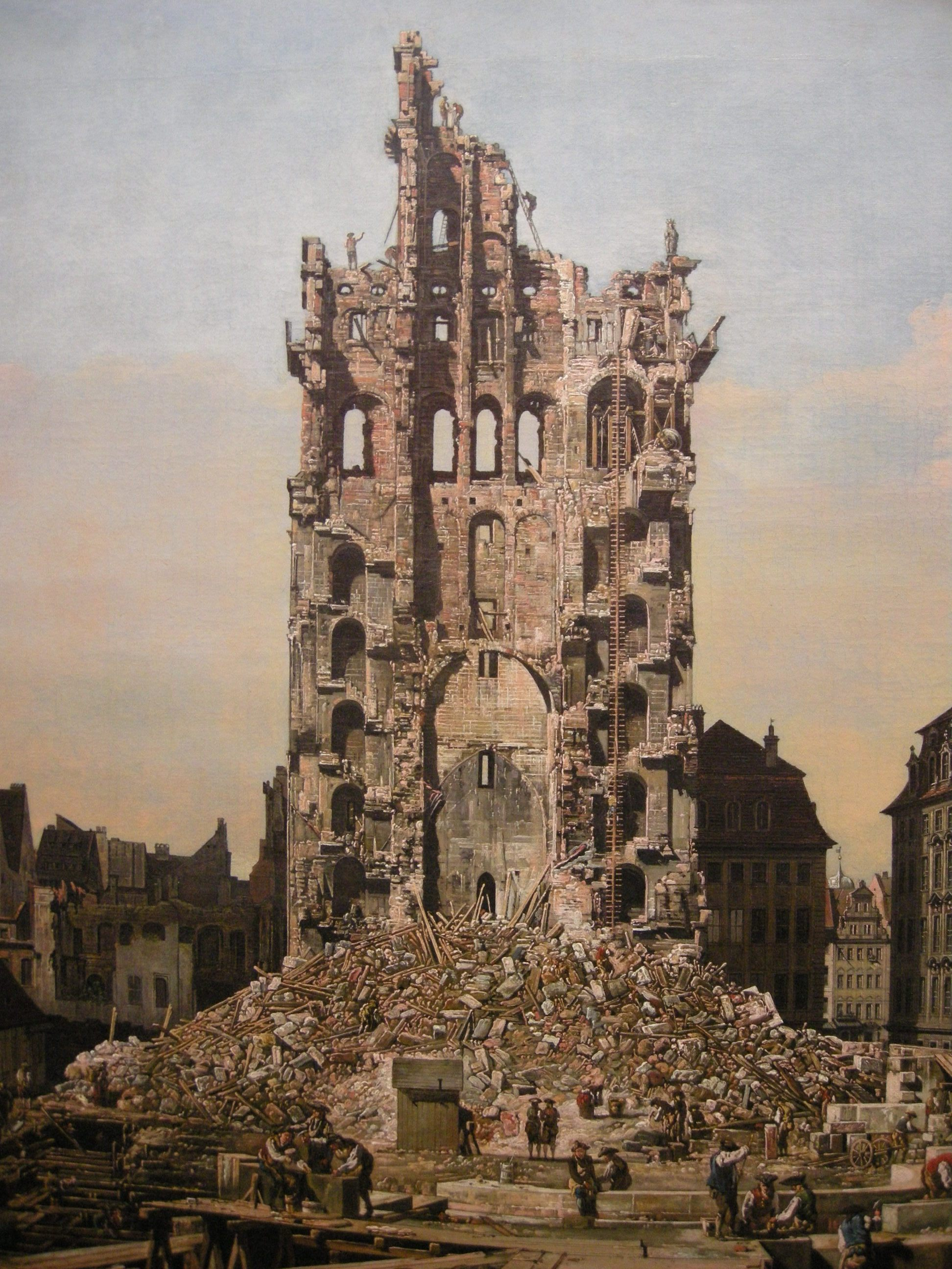 Building Ruins Painting 1080.98 Kb