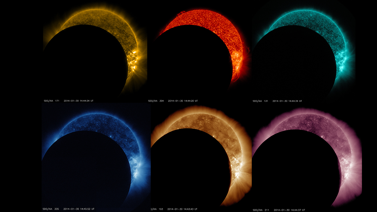 Stages of Eclipse in Colors