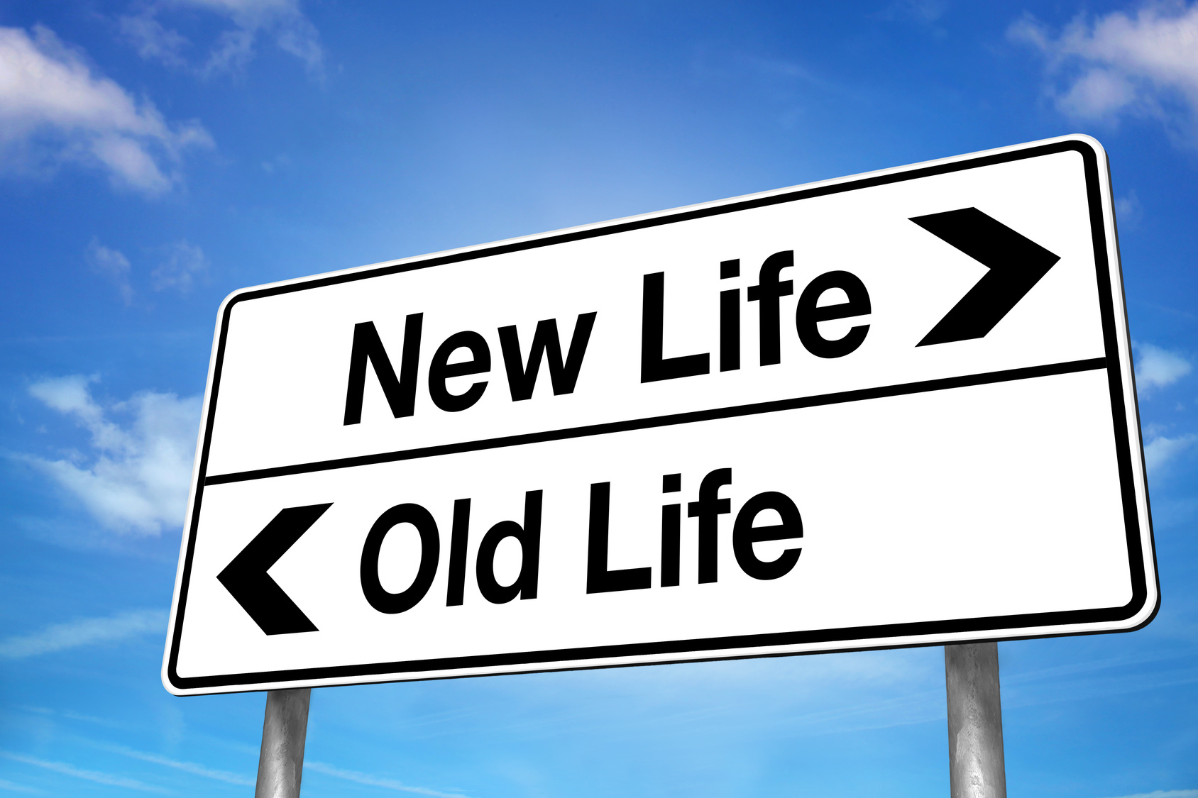 New Life, Old Life Sign 767.91 Kb
