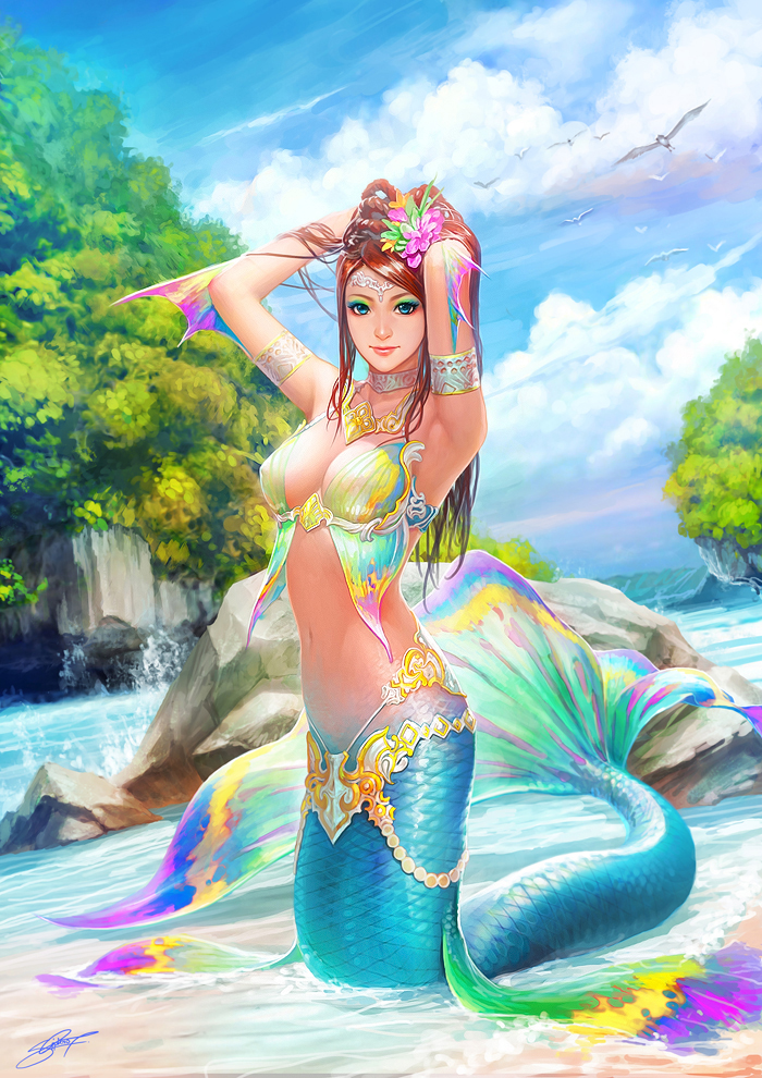 Anime Mermaids Creatures